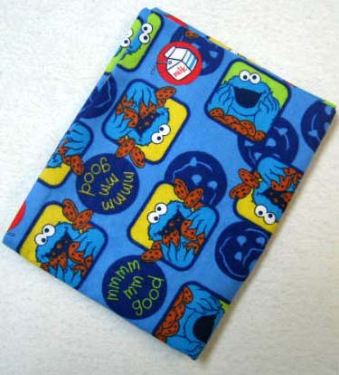 Cookie Monster Flannel Baby Pillow Case