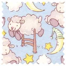 Baby Lambs Blue Fabric