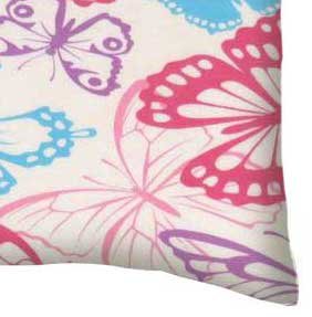 Twin Pillow Case - Butterflies Jersey Knit