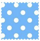 Primary Polka Dots Blue Woven Fabric