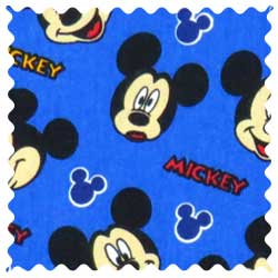 Mickey Mouse Blue Fabric