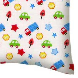 Percale Pillow Case - Baby Cars & Trucks