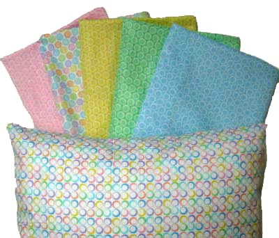 Percale Pillow Cases - Pastel Bubbles Collection