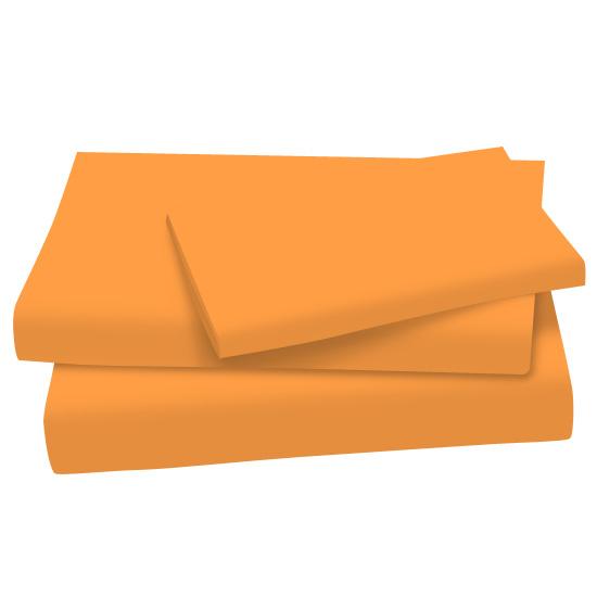 Orange Sherbert Cotton Jersey Knit Twin