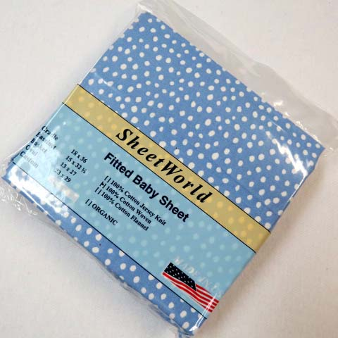 Blue Fun Dots Cotton Woven Cradle Sheet