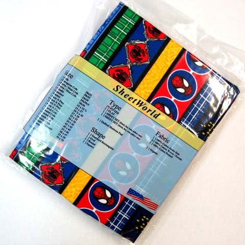 Spiderman Pack N Play Sheet - Fits Graco - 27 x 39