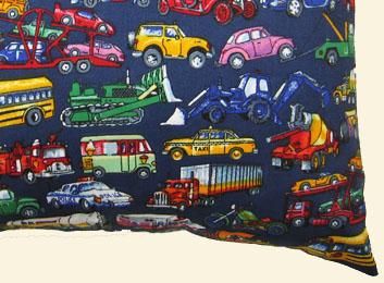 Percale Pillow Case - Vehicles Galore