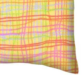Flannel Pillow Case - Colorful Grid Yellow