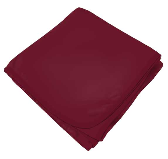 Burgundy Receiving Blanket