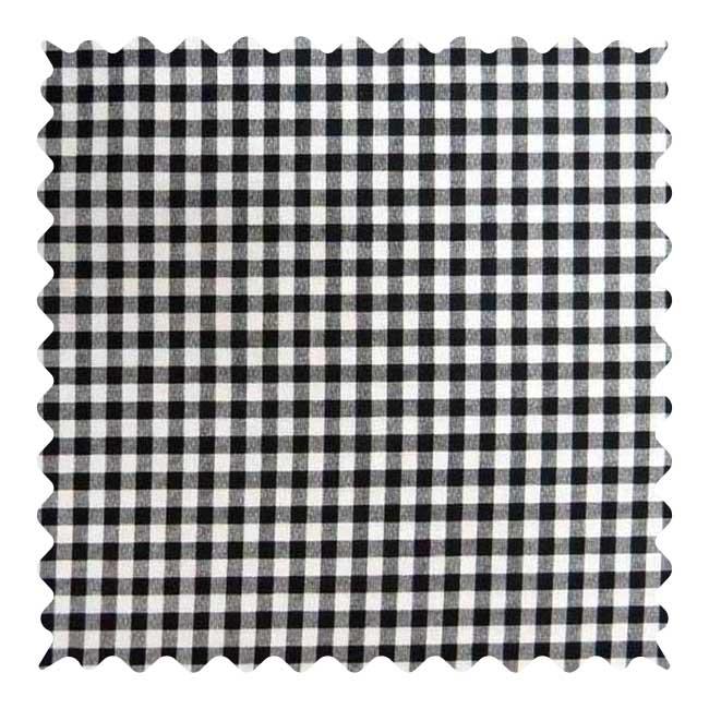 Black Gingham Check Fabric