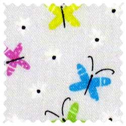 Butterflies Gray Fabric