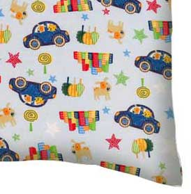 Percale Pillow Case - Cars & Dogs