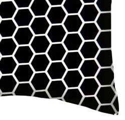 Percale Pillow Case - Black Honeycomb