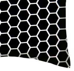 Percale Pillow Case - Black Honeycomb