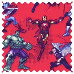 Marvel Comics Red Fabric