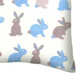Flannel Pillow Case - Boys Bunny Rabbits
