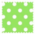 Fabric Shop - Primary Polka Dots Green Woven Fabric - Yard - 100% Cotton Woven - Primary Polka Dots Fabric Shop