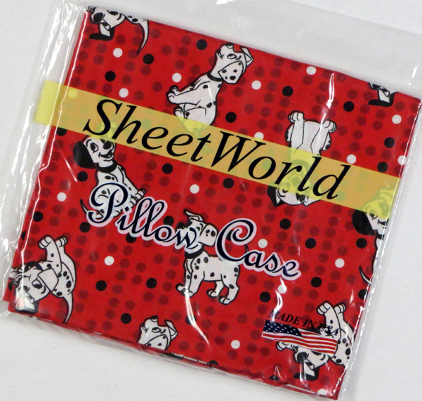 Dalmations Red Cotton Baby Pillow Case