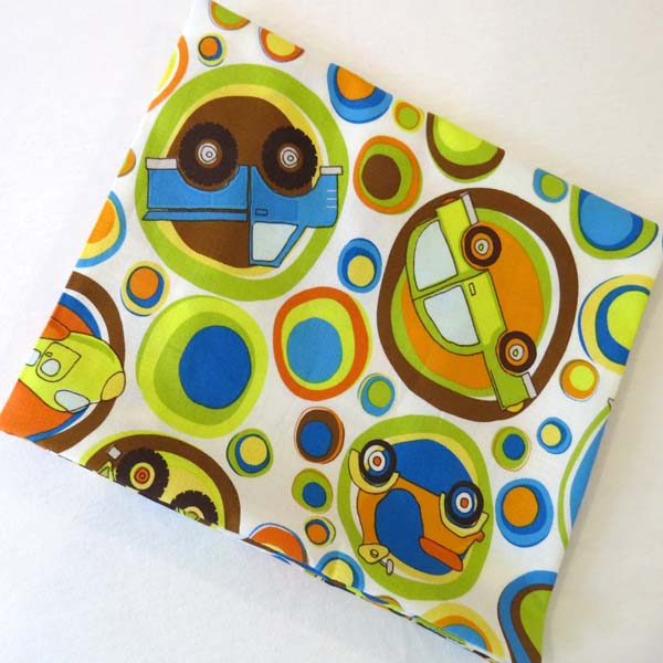 Transportation Bubbles Cotton Baby Pillow Case