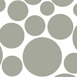 Oval (Stokke Mini) - Grey On White Dots - Fitted Oval - 100% Cotton Woven - Modern Print Collection Oval Sheets