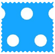 Polka Dots Turquoise Fabric