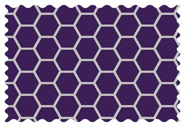 Purple Honeycomb Fabric - 100% Cotton - 32 x 42 inches
