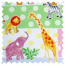 Jungle Animals & Dots Fabric