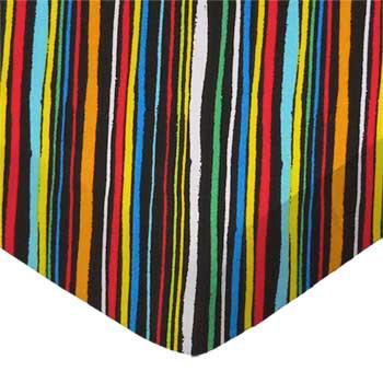 Colored Stripes Black