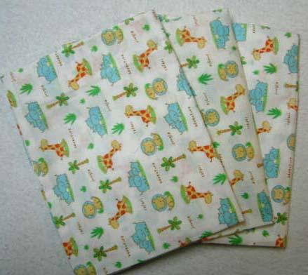 3 Pack Jungle Adventure Cotton Baby Pillow Case