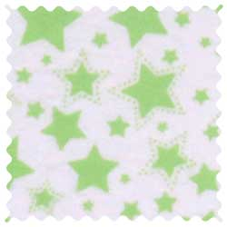 Green Stars Fabric