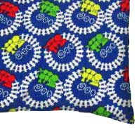 Percale Pillow Case - Train Tracks
