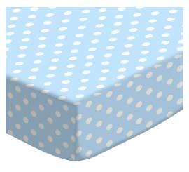 Pastel Blue Polka Dots Woven