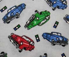 Square Playard (Graco) - City Cars - Fitted - 100% Cotton Flannel - Baby Transport Square Sheets