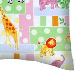 Percale Pillow Case - Jungle Animals & Dots