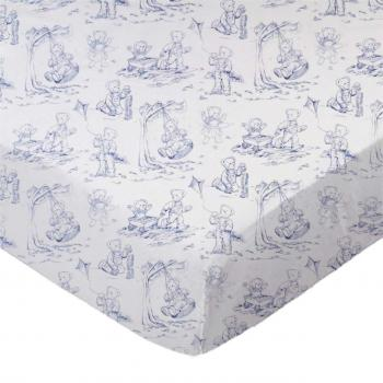 Blue Teddy Toile