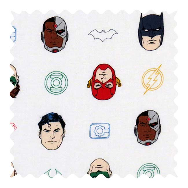 Superheroes Fabric - 100% Cotton - 43 x 25 Inches