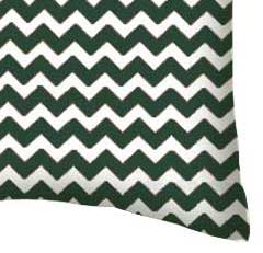 Percale Pillow Case - Hunter Green Chevron Zigzag