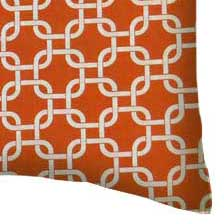 Percale Pillow Case - Orange Links