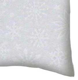 Flannel Pillow Case - White Snowflakes