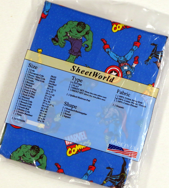 Marvel Comics Cotton Travel Lite Playard Sheet - Fits BabyBjorn 24 x 42