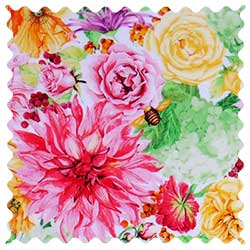 Bee Floral Fabric