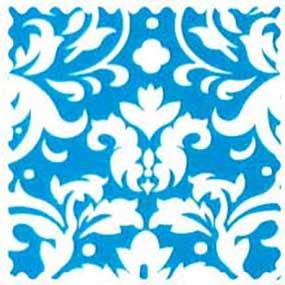 Turquoise Damask Fabric