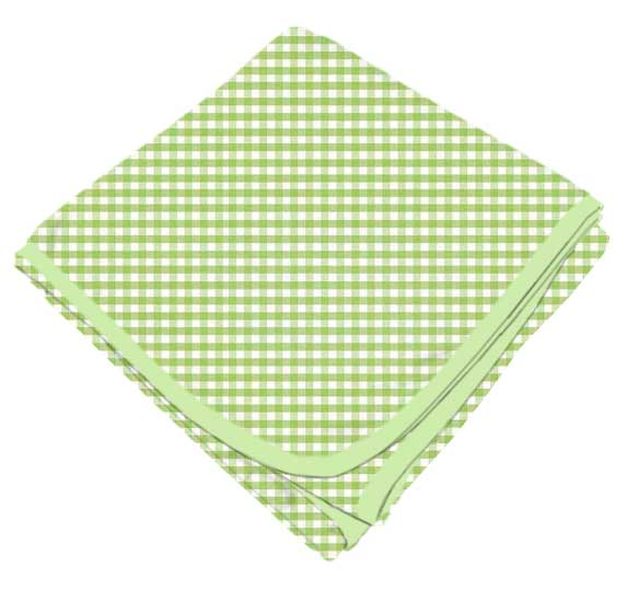 Sage Gingham Check Receiving Blanket