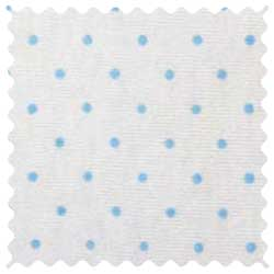 Blue Pindot Jersey Knit Oval Crib Stokke Sleepi Sheets