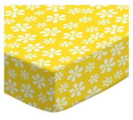 100% Cotton Woven - Primary Florals Cradle Sheets