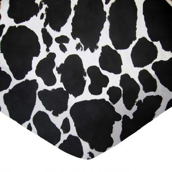Cradle - Black Cow - Fitted - 100% Cotton Woven - Modern Print Collection Cradle Sheets