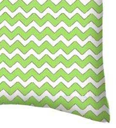 Percale Pillow Case - Lime Chevron Zigzag