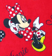 Bassinet - Minnie Mouse Polka Dot - Fitted - 100% Cotton Flannel - Character Prints Bassinet Sheets