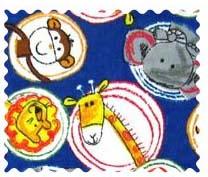 Safari Animal Circles Fabric