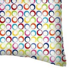 Percale Pillow Case - Primary Colorful Rings Woven
